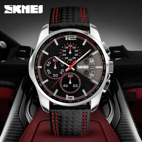 c05b7c3ca28 Relógio Skmei Modelo 9106 Analógico Luxo Fashion Original - Relógios ...