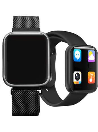 Imagem de Relógio Smart Watch P80 Preto C/ Duas Pulseiras Batimento Cardíaco  - DAFIT