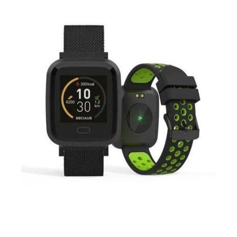 Imagem de Relogio smartwatch quadrado pulseira verde seculus 79006mpsvpe2