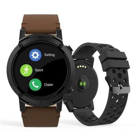 Imagem de Relogio smartwatch redondo pulseira marrom seculus 79004g0svnv2