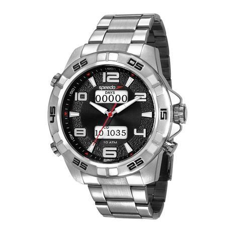 57f49a3149e Relógio Speedo Masculino Ref  15002g0evns2 Big Case Prateado ...