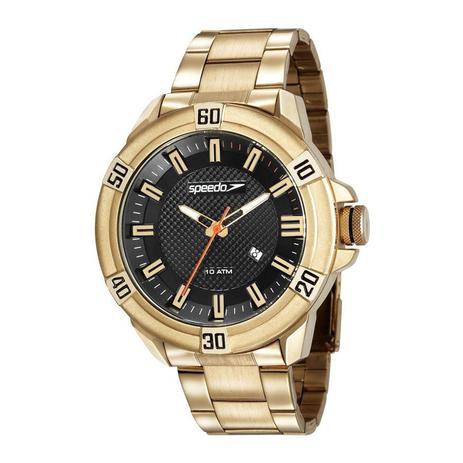 2ea2a46a00e Relógio Speedo Masculino Ref  15004gpevds1 Big Case Dourado ...