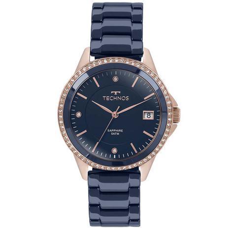 Relógio Technos Cerâmica Analógico Feminino 2315KZT 4A - Relógio ... 001b30f6e3