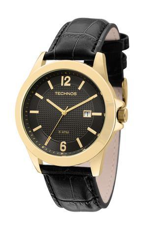 79959a5fc6d Relógio Technos Classic Steel Analógico Couro 2115KNO 2P - Relógio ...