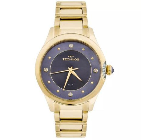 Relógio Technos Elegance Crystal Swarovski Feminino 2035MFR 4A ... 7483b515b2