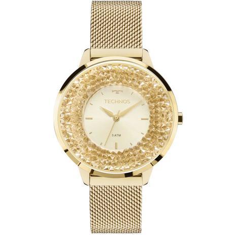 Relógio Technos Elegance Feminino Analógico 2035MLG 4X Swarovski ... 21532b5280