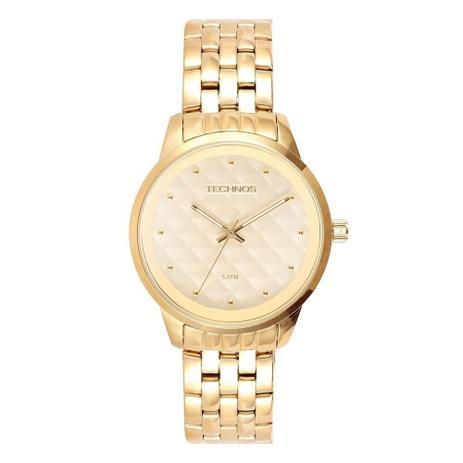 e7d27a76a3588 Relógio Technos Feminino Analógico Dourado 2035LWM 4X - Relógio ...