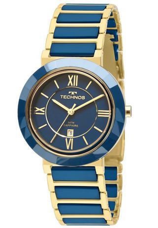 Relógio Technos Feminino Ceramic Sapphire 2015BV 5A - Relógio ... a22dfee759
