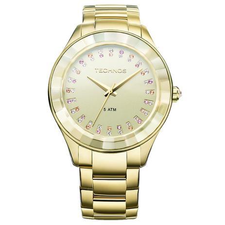 Relógio Technos Feminino Elegance Crystal Swarovski Analógico 2035LTV 4X 6f62d2c2c5