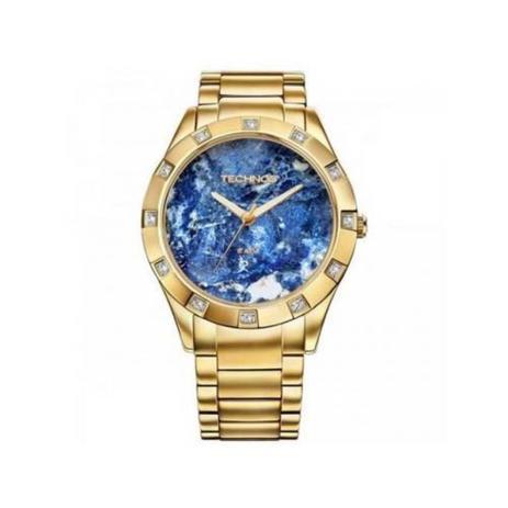 5f2d4fd7b5d Relógio Technos Feminino Elegance Stone Collection Sodalita Analógico  2033AA 4A