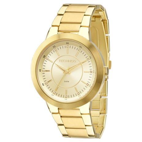 Relógio Technos Feminino Ref  2035mff 4x Casual Dourado - Relógio ... 86ab3e175f
