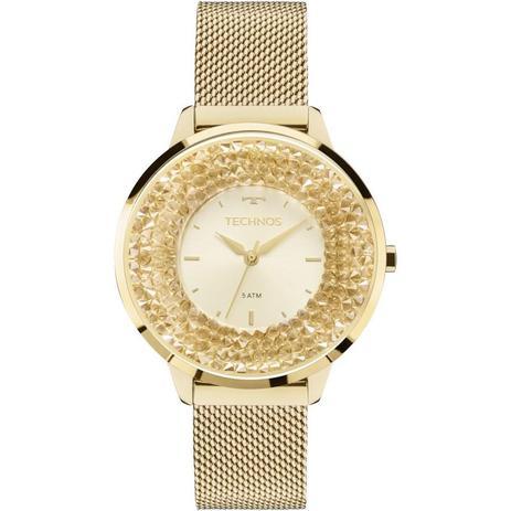 7f89e36ff066c Relógio Technos Feminino Ref  2035mlg 4x Slim Dourado - Relógio ...