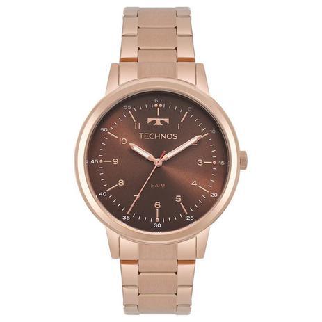 Relógio Technos Feminino Ref  2035mpp 4m Elegance Rosé - Relógio ... 55ffd407d1