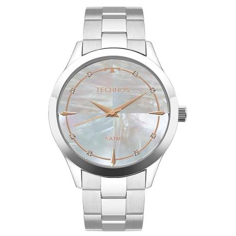 61023b6cb21cc Relógio Technos Feminino Ref  2039bb 1k Prata - Relógio Feminino ...