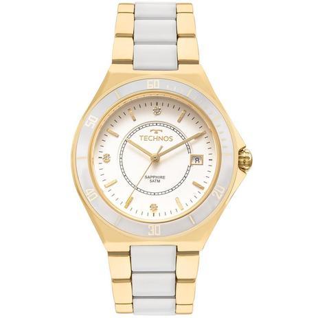 9124ee9613d6e Relógio Technos Feminino Ref  2115mmn 4b Social Dourado - Relógio ...