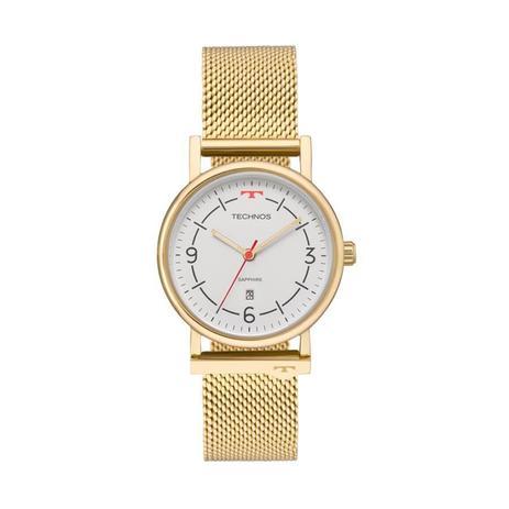 bcfb98fcd4af4 Relógio Technos Feminino Ref  9t13ab 4b Slim Dourado - Relógio ...
