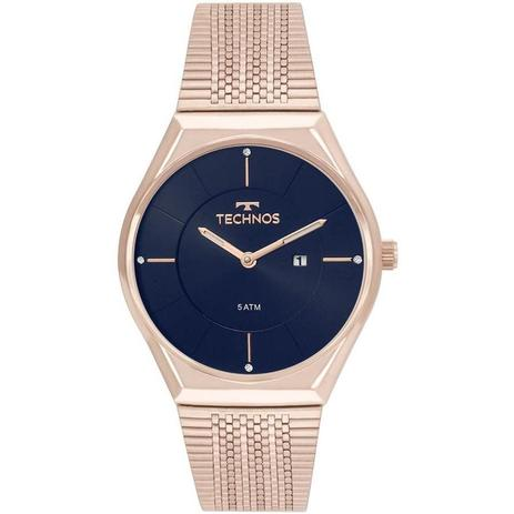 Relógio Technos Feminino Ref  Gl15aq 4a Slim Rosé - Relógio Feminino ... 72b14bb647