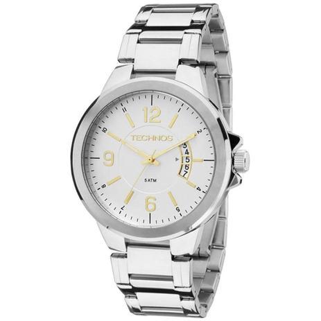 Relógio Technos Masculino Analógico 2115KSK 1C - Prata - Relógio ... bed8ed418c