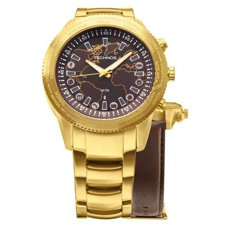 Relógio Technos Masculino Connect Troca Pulseiras - 753AC-4M ... 370663eae7