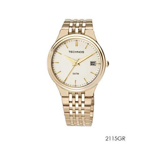 58bcf31ece2 Relógio technos masculino dourado 2115gr - Relógio Masculino ...