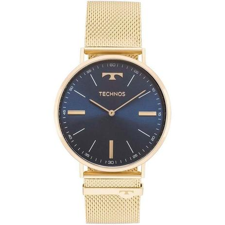 Relógio Technos Masculino Ref  2025ltk 4a Slim Dourado - Relógio ... 148fac6a11