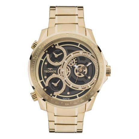 1aca22613df88 Relógio Technos Masculino Ref  2035mla 4p Big Case Dourado - Relógio ...