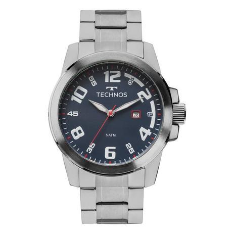 fbdc535dfedd4 Relógio Technos Masculino Ref  2115mgr 1a Casual Prateado - Relógio ...