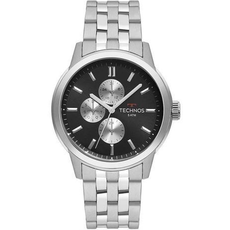 4b13b73296a2d Relógio Technos Masculino Ref  6p27ds 1c GrandTech Prata - Relógio ...
