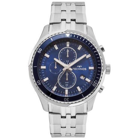c9f47013618 Relógio Technos Masculino Ref  Js15ff 1a Cronógrafo Prateado ...