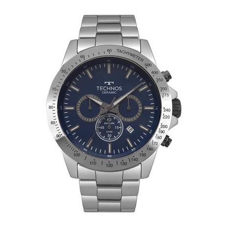 ca4c9df6198 Relógio Technos Masculino Ref  Js25bt 4a Cerâmica Prata - Relógio ...