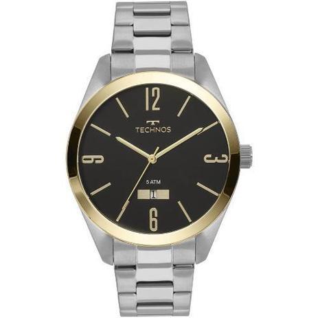 35858b92939 Relógio Technos Prateado E Dourado Masculino 2115mnv 1p