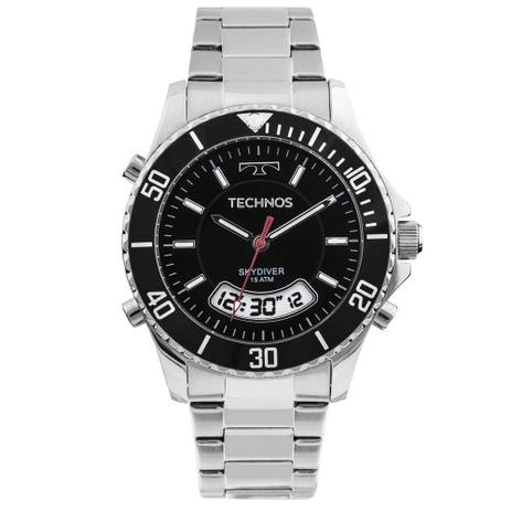 474e06c8819 Relógio Technos Prateado Elegance Skydiver T205JB 1P - Relógio ...