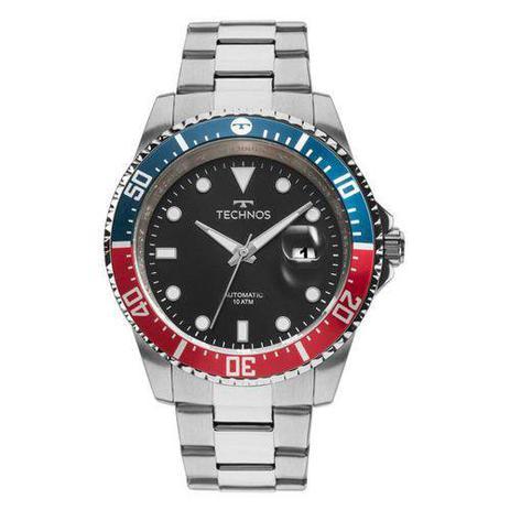 f40c771dedb Relógio Technos Prateado Masculino Automático 8205NZ 1P - Relógio ...