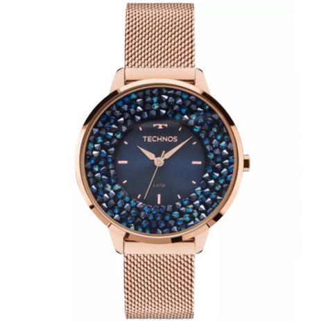 770d88b01ce Relógio Technos Swarovski Elegance Analógico Feminino 2035MLE 4A ...