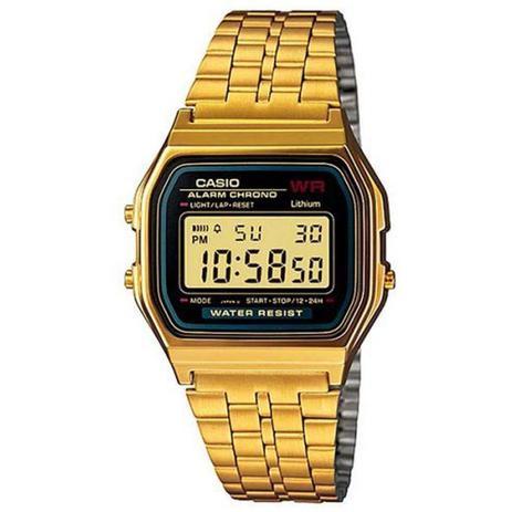 881a18543a6 Relogio Unissex Casio Digital A159wgea-1df - Preto dourado - Relógio ...