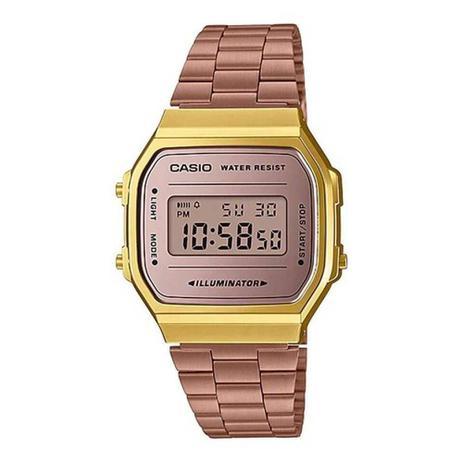 eb4e9b909 Relógio Unissex Casio Vintage A168WECM-5DF - Rosê Dourado - Relógio ...