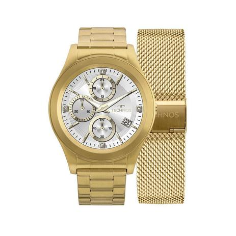 d96983a6ed606 Relógio Unissex Technos Connect Smartwatch Srae 4P Dourado ...
