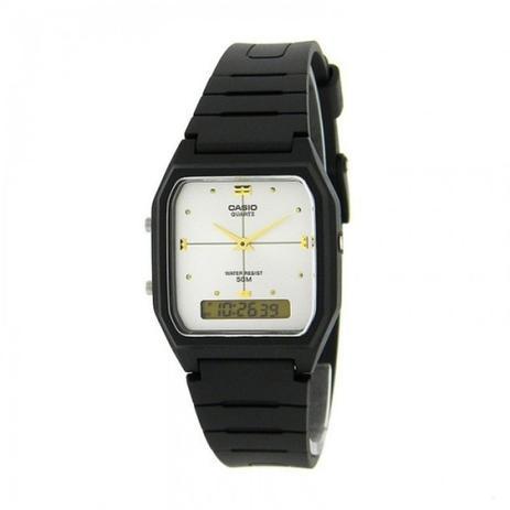 49b6f60b0 Relógio Unissex Vintage AW-48HE 7AVDF Preto Anadigi Casio - Relógio ...