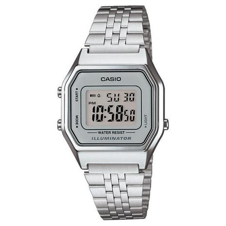 24166006fc8 Relógio Unissex Vintage La680wa-7df Prata Digital - Casio - Relógio ...