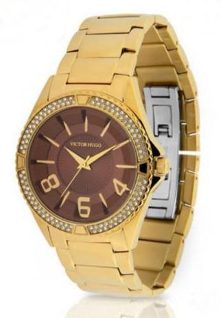 6fe07f1368e Relógio Victor Hugo Feminino Quartz Vh10142lsg 12m - Relógio ...