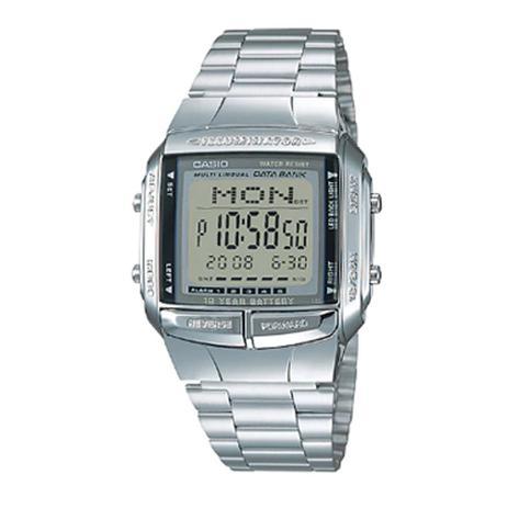 862df2ca8b3 Relógio Vintage Digital Db-360-1adf Prata -Casio - Relógio Masculino ...
