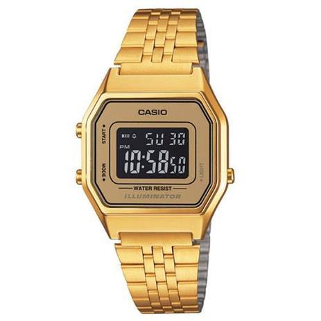 2dfa4dcb1c1 Relógio Vintage Digital Dourado à Prova Dágua - Casio - Relógio ...