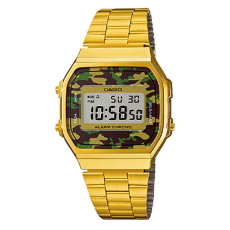 27615220a0c Relógio Vintage DigitalA168wegc-3dfPrata Camuflado -Casio - Relógios ...