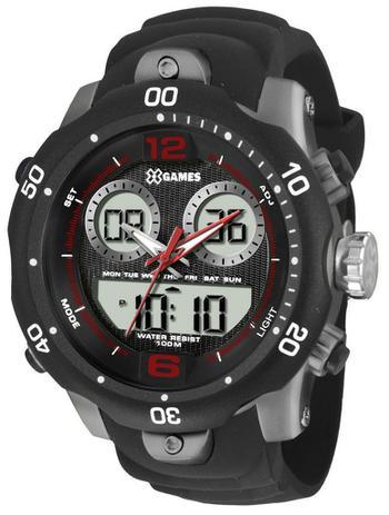45dcb2be6b9 Relógio X-Games Masculino Analógico Digital Preta XMPPA206BXPX ...