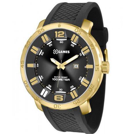 23896d71e83 Relógio X-Games Masculino Analógico Preto Dourado XMSP1013 P2PX ...