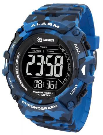 5e48d04c1c8 Relógio X-games Masculino Digital Xmppd489 Camuflado Azul - Relógios ...