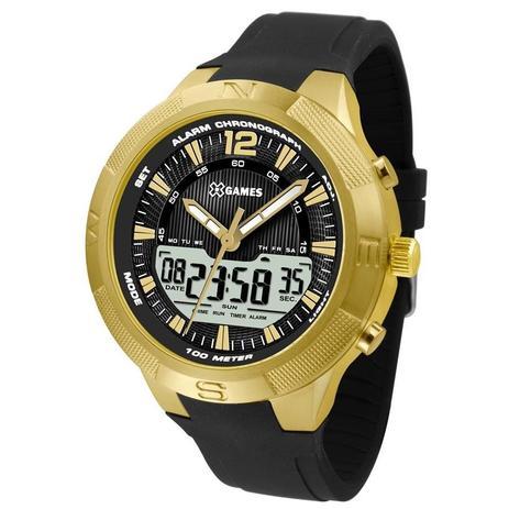 abca284879c Relógio X Games Masculino Ref  Xmgpa002 P2px Anadigi Dourado ...