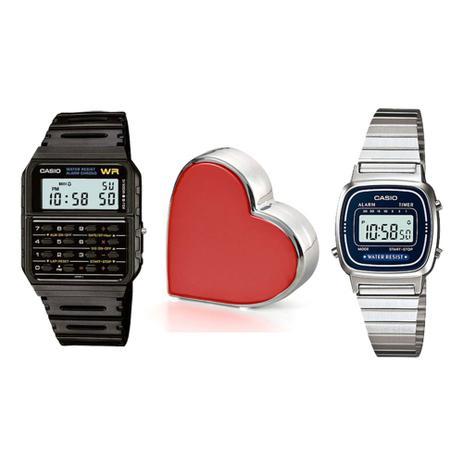 c0e485898a4 Relógios Casio Masculino e Feminino + Adorno de Coração - Relógio ...