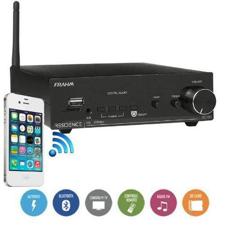 Imagem de Residence Rd80 Frahm Amplificador Receiver 2x80 Rms (160rms) Bluetooth