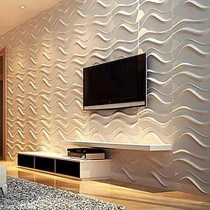 Revestimento parede alto relevo painel 3d comacina m2 for Mosaico adesivo 3d